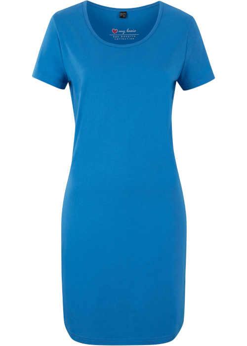 Moderné dámske šaty nad kolená z elastického materiálu