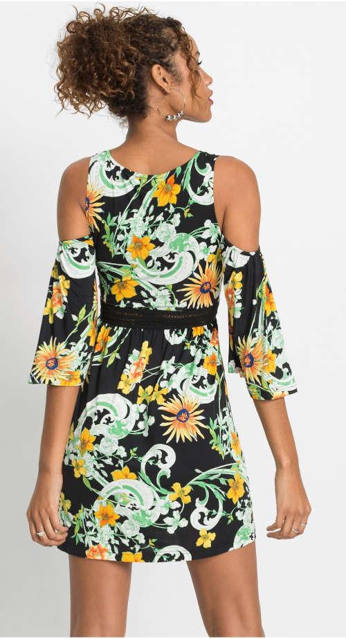 Dámske šaty s odhalenými ramenami