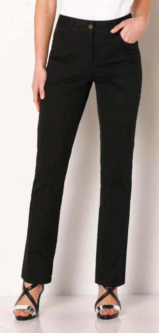 Čierne zoštíhľujúce dámske nohavice Blancheporte