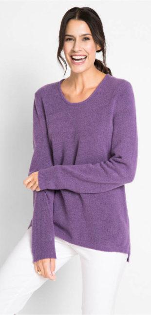 Hebounký flaušový dámsky sveter