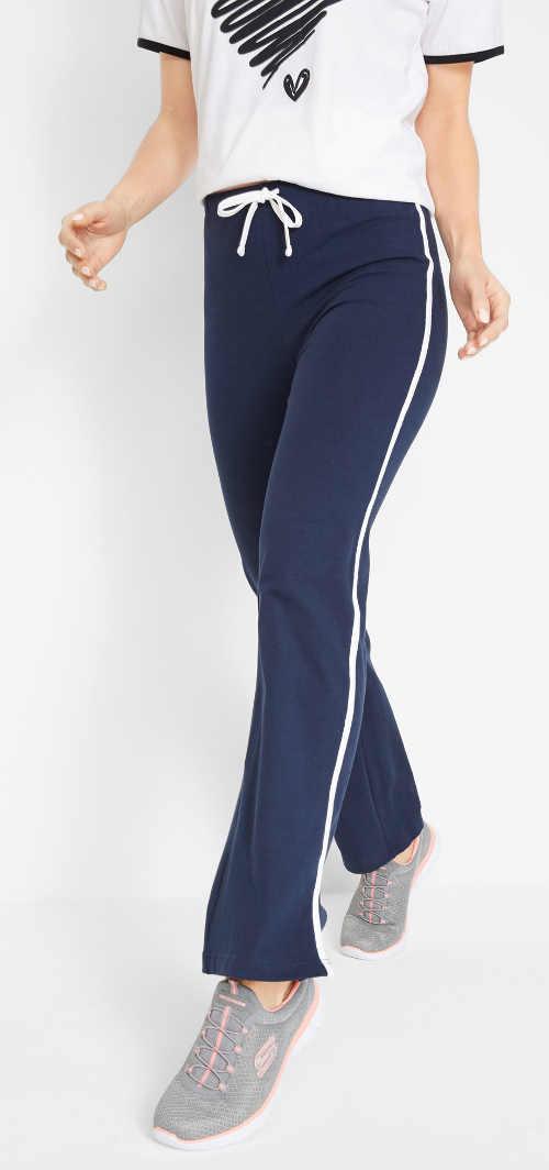Športové strečové dámske nohavice so šnúrkou v páse
