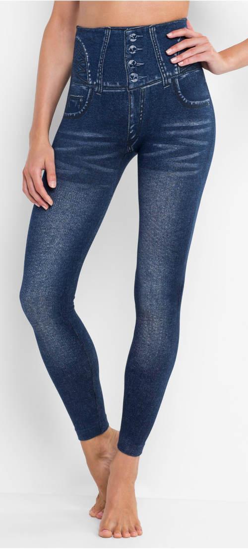 Sťahovacia Seamless džínsové legíny s vysokým pásom