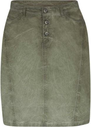 Trendy sukne s gombíkovou légou v ošúchanom vzhľadu