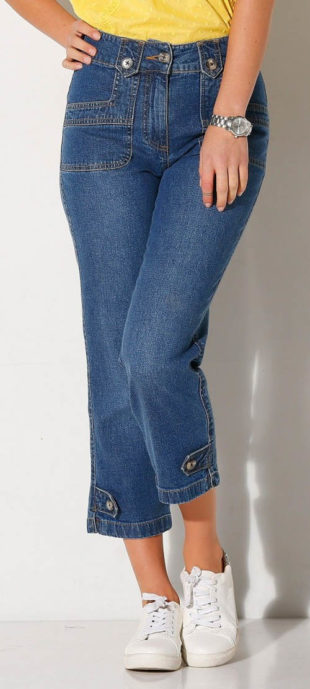 Krátke nohavice zo strečové džínsoviny