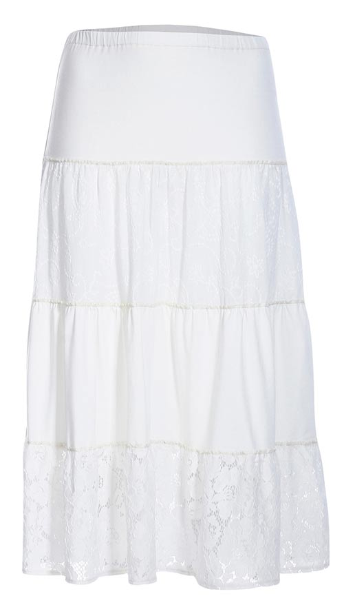 Módna dlhá letná sukňa áčkového strihu