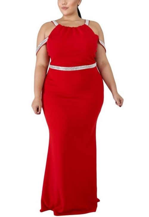 Dámske spoločenské šaty v hriešne zvodné červenej