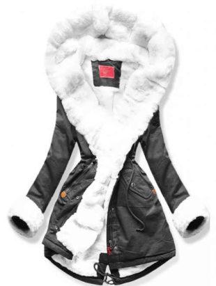 XXL zimná parka s vnútorným kožúškom