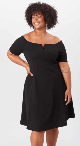 Dámske čierne šaty v dĺžke ku kolenám nielen do spoločnosti