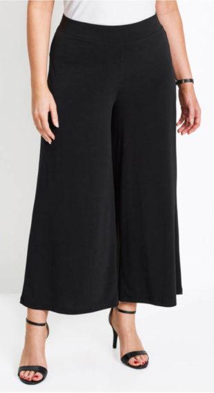 Široké dámske nohavice na gumu v páse