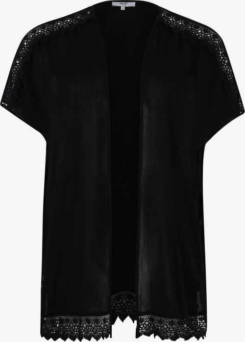 Čierne dámske tričko s čipkou