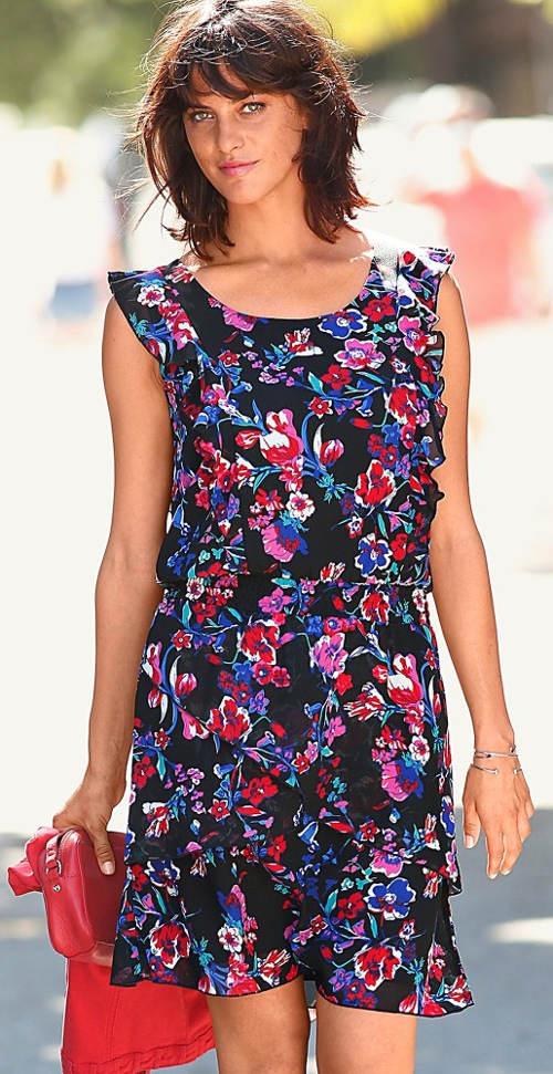 Kvetinové šaty pre plnoštíhle - výpredaj