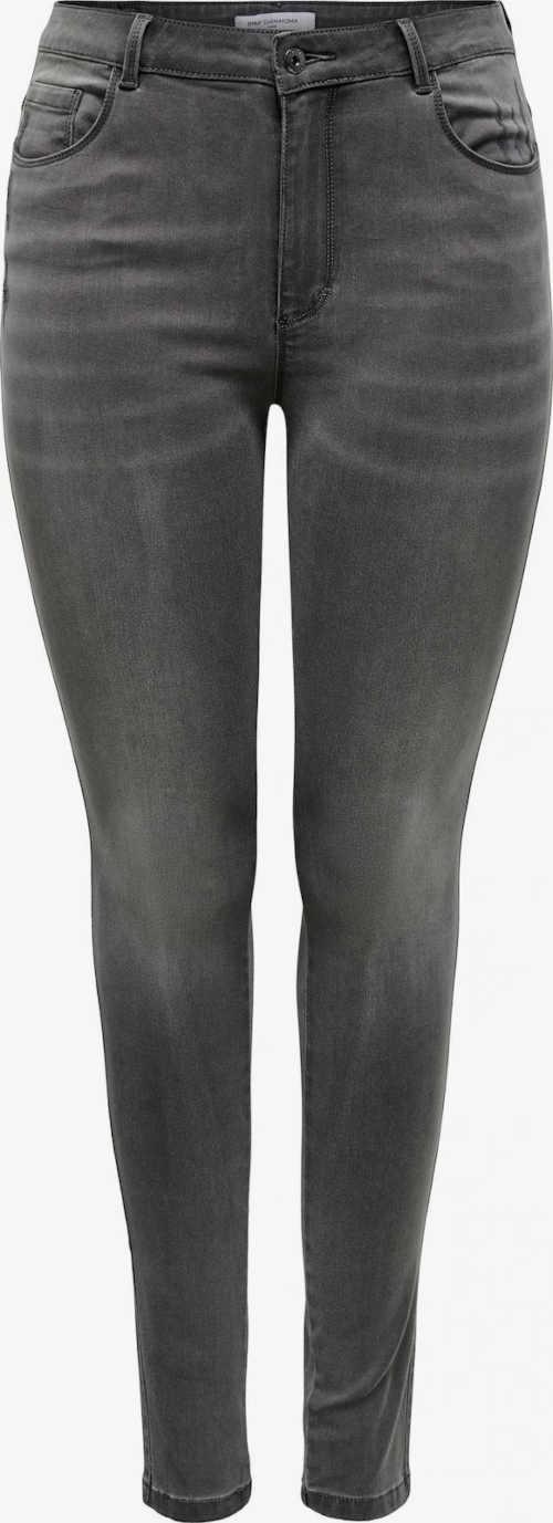 Dámske kvalitné moderné džínsy v tmavosivej farbe