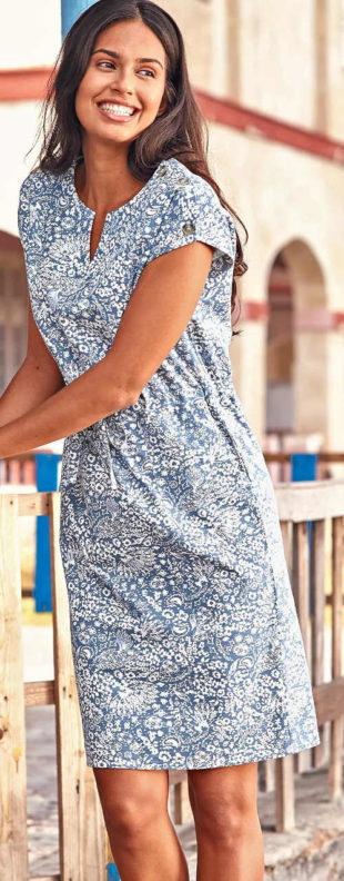 Dámske letné šaty s krásnou jemnou potlačou