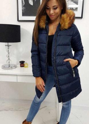 Prešívaná dámska zimná bunda v predĺženej dĺžke