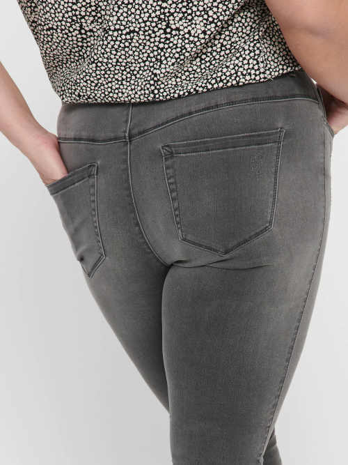 Tmavosivé dámske džínsy