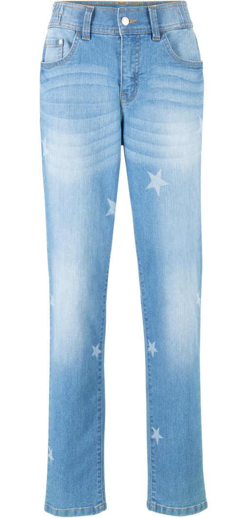Dámske džínsy XXL s hviezdičkami