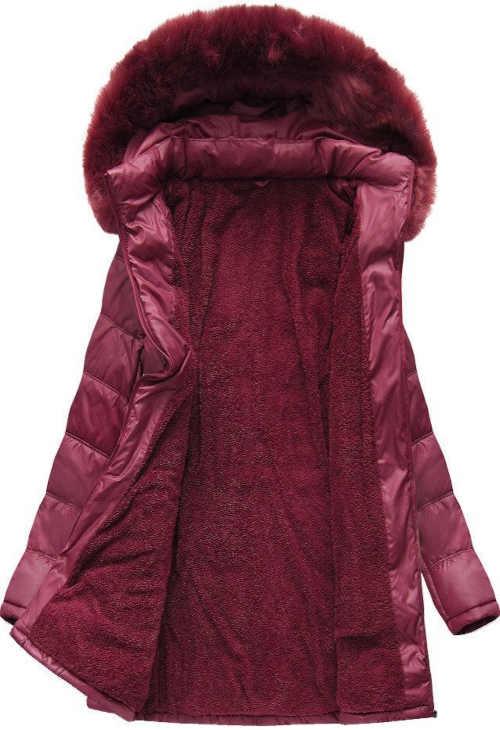 XXL prešívaná bunda v predĺženej dĺžke s odnímateľnou kapucňou