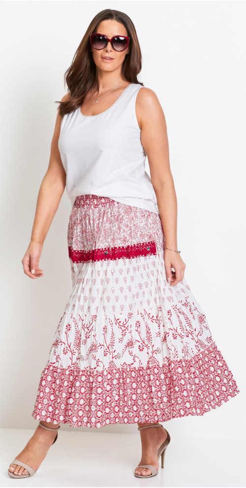 Biele dámske letné tielko s dlhou sukňou