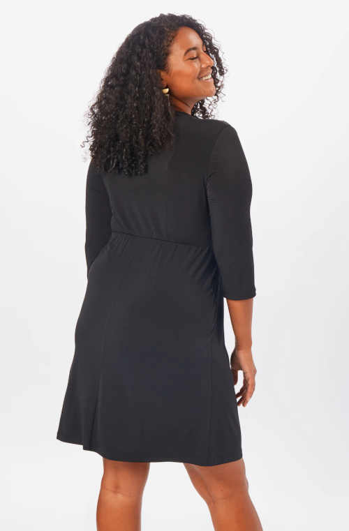 Čierne dámske moderné šaty