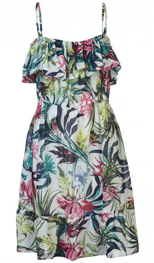 Kvetinové letné šaty na ramienka
