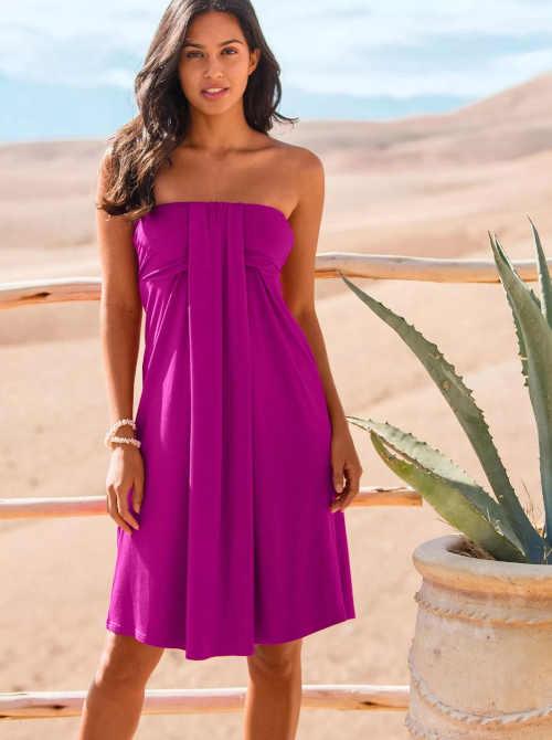 Šaty vo fialovej farbe nad kolená